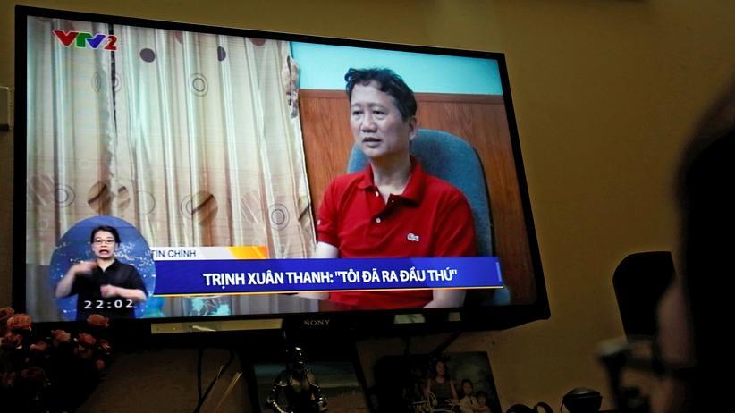 Trinh Xuan Thanh: Trinh Xuan Thanh bei seinem Auftritt im Staatsfernsehen