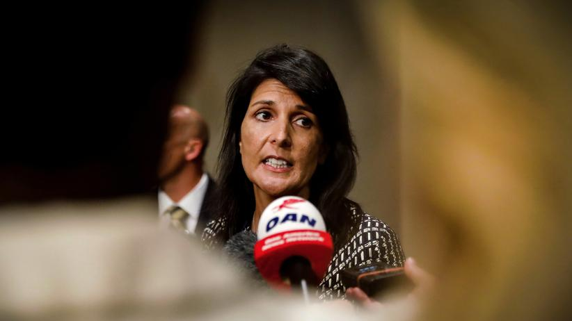 Nordkorea: Die US-Botschafterin bei den Vereinten Nationen, Nikki Haley