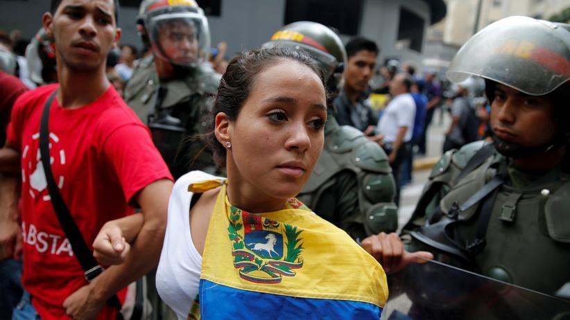 Venezuela: Proteste gegen Präsident Nicolás Maduro.