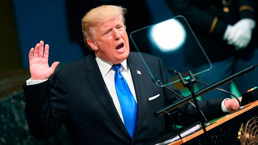 Donald Trump: Er sei immer zuerst um das Wohlergehen des amerikanischen Volkes besorgt, sagte US-Präsident Donald Trump vor der UN Generalversammlung in New York
