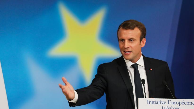 Emmanuel Macron: Frankreichs Präsident bei seiner Europa-Rede in Paris