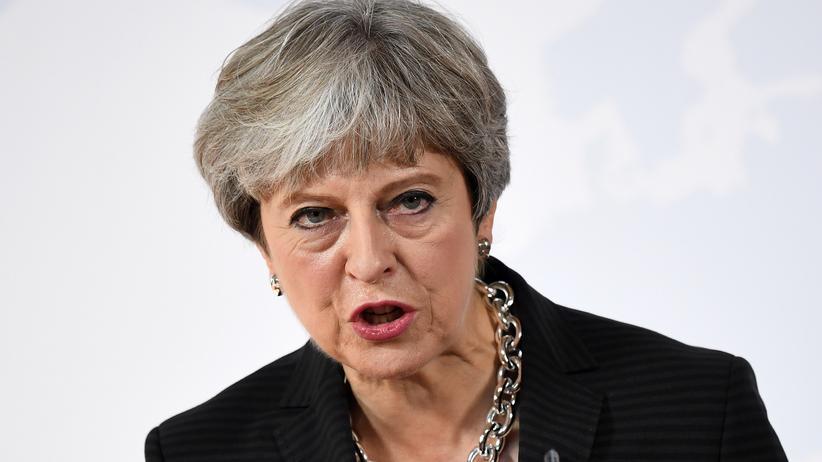 Großbritannien: Großbritanniens Premierministerin Theresa May bei einer Rede in Florenz