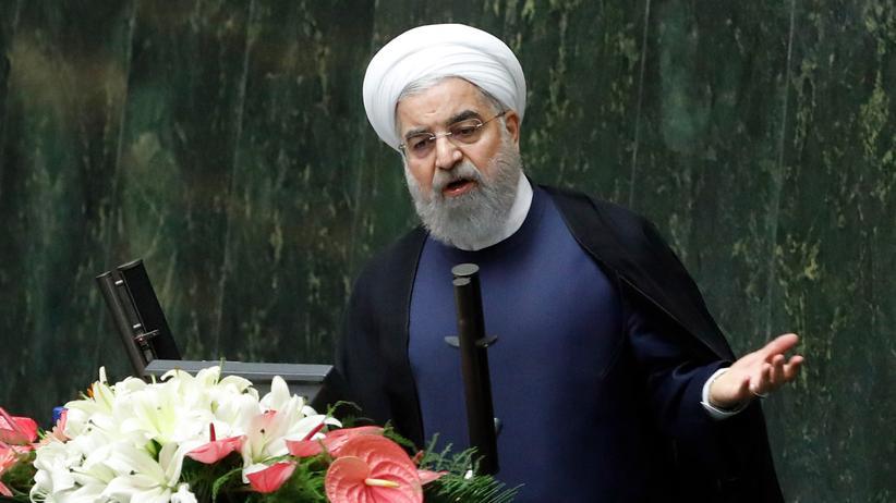 Naher Osten: Irans Präsident Hassan Ruhani in Teheran