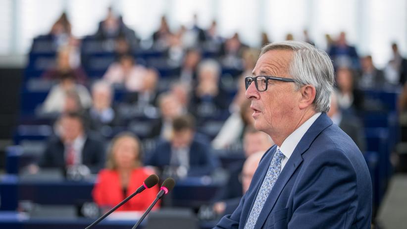 Jean-Claude Juncker im Europäischen Parlament in Strasburg