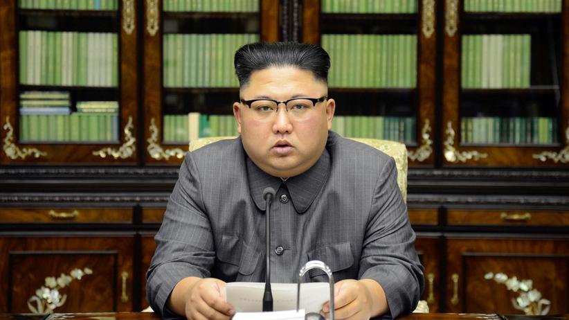 Kim Jong Un beschimpft den amerikanischen Präsidenten.