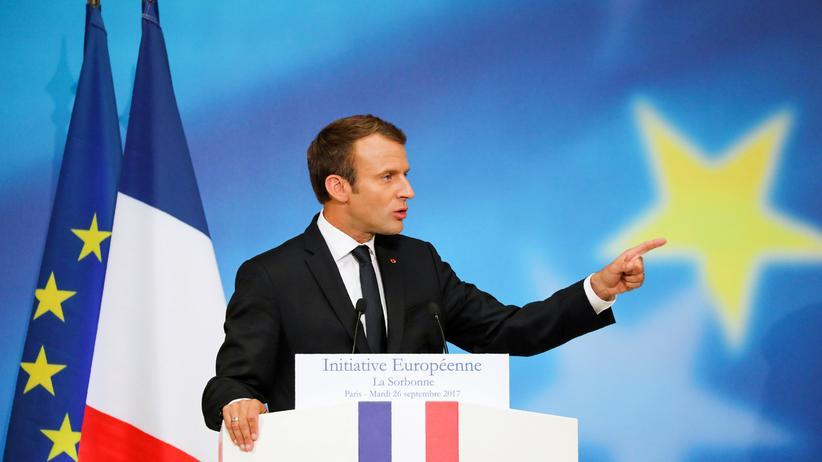 Zukunft der EU: Emmanuel Macron fordert Neugründung der EU