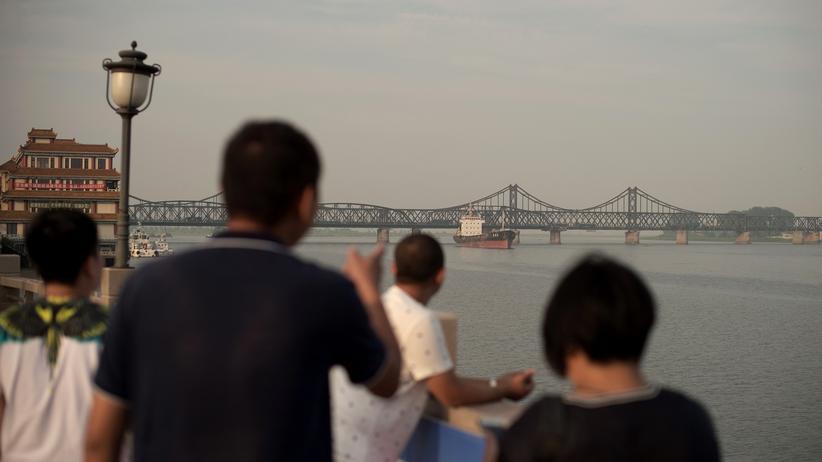 UN-Sanktionen: Die chinesische Stadt Dandong an der Grenze zu Nordkorea