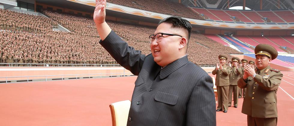 nordkorea kim jong un empf ngt s dkoreanische delegation. Black Bedroom Furniture Sets. Home Design Ideas