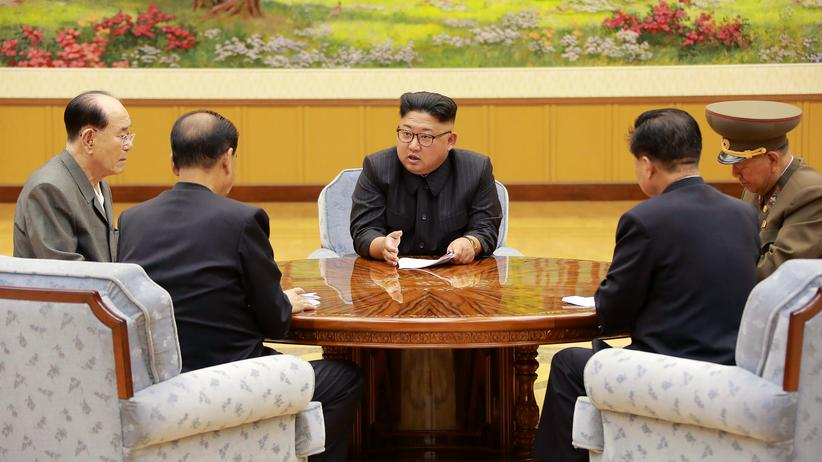 Nordkorea-Konflikt: Nordkoreas Kim Jong-Un auf einem Foto, welches Anfang September von der staatlichen nordkoreanischen Nachrichtenagentur verbreitet wurde.