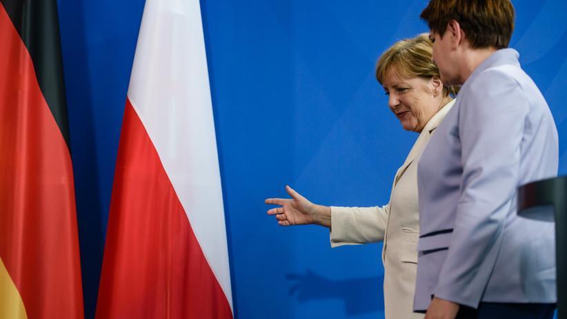 Polen: Bundeskanzlerin Angela Merkel mit der polnischen Ministerpräsidentin Beata Szydło in Berlin