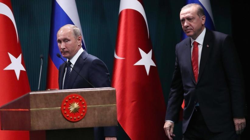 Syrien: Russlands Staatschef Putin und der türkische Präsident Erdoğan