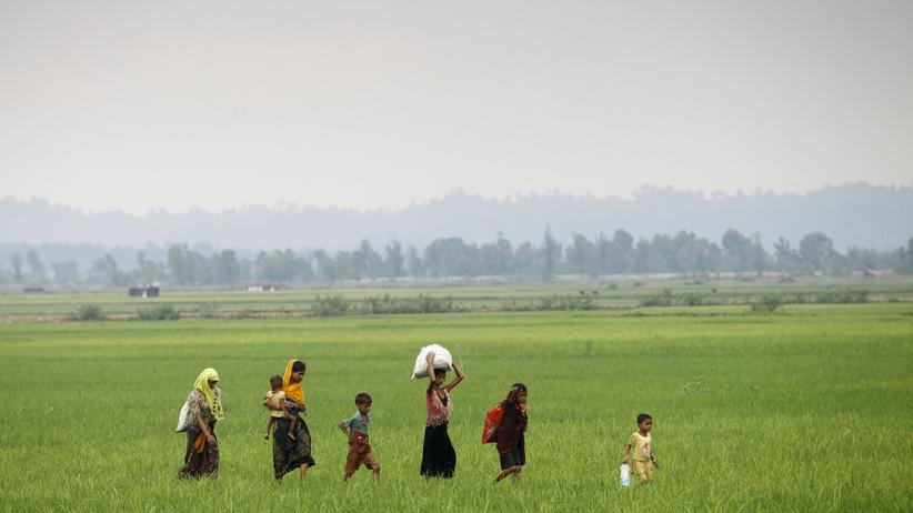 Rohingya: Geflüchtete Rohingya im myanmarischen Rakhine an der Grenze zu Bangladesch