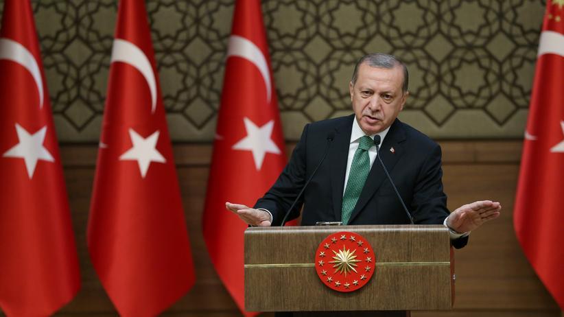 Ankara: Der türkische Präsident Recep Tayyip Erdoğan während einer Rede in Ankara