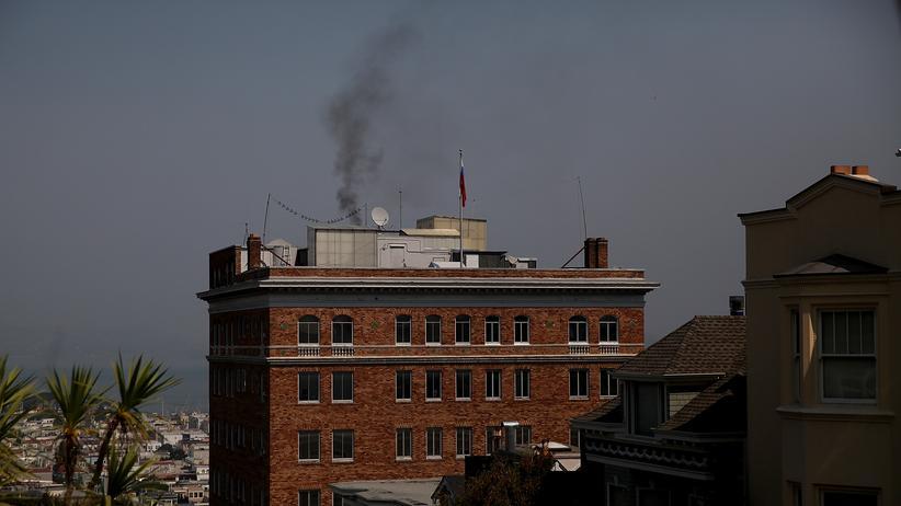 USA: Schwarzer Rauch über dem russischen Konsulat