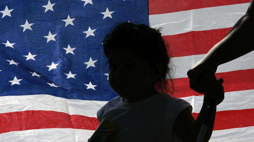 USA: Ein junges Mädchen auf einer Demonstration für die Rechte von Einwanderern in Texas