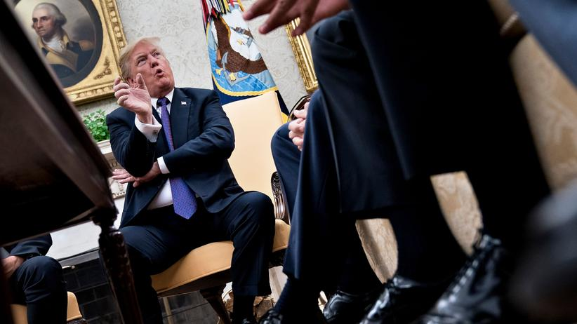 Donald Trump: US- Präsident Donald Trump im Weißen Haus