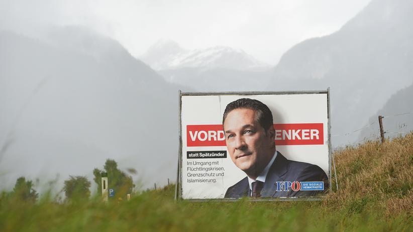 Wahlkampf: In Österreich macht vor allem die rechtspopulistische FPÖ mit Parteichef Heinz-Christian Strache Stimmung gegen Einwanderer.