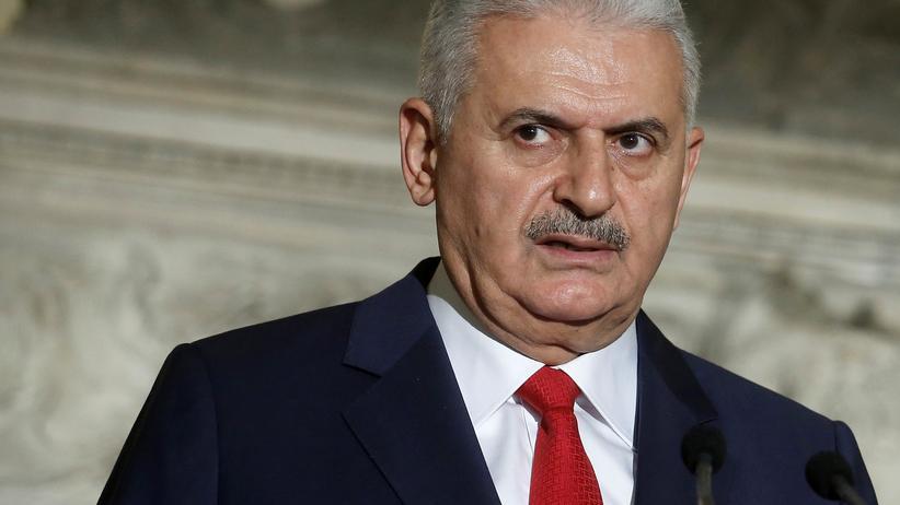 Idlib: Der türkische Ministerpräsident Binali Yıldırım auf einer Pressekonferenz in Athen