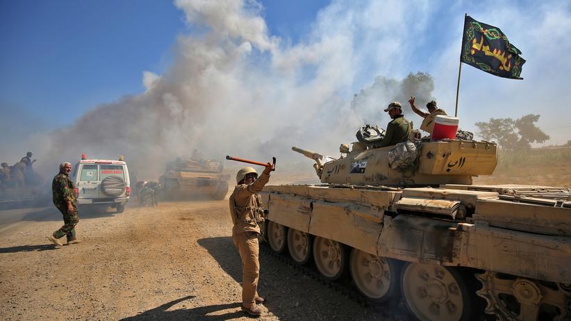 """""""Islamischer Staat"""": Irakische Streitkräfte rücken auf Al-Hawidscha vor."""