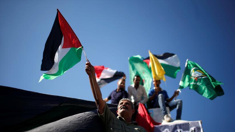 Abkommen in Kairo: Palästinenser feiern das Versöhnungsabkommen auf den Straßen von Gaza