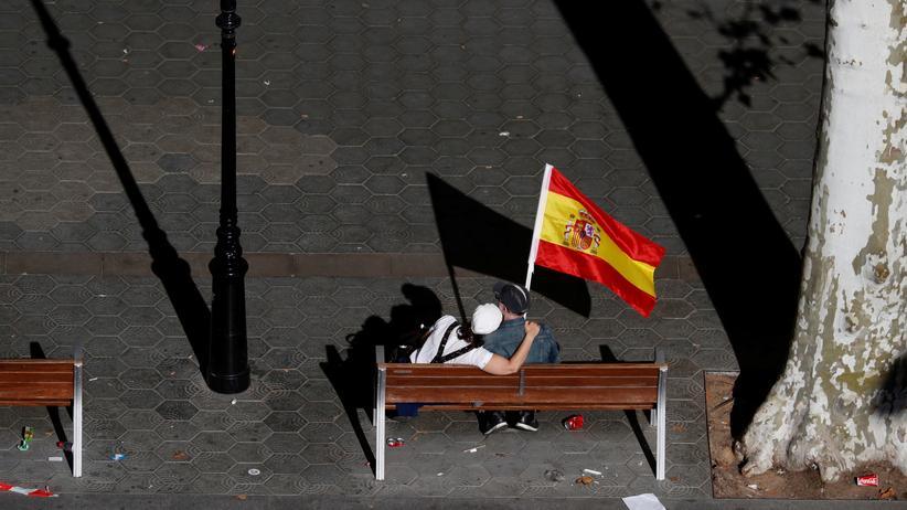 Katalonien Barcelona Demonstranten