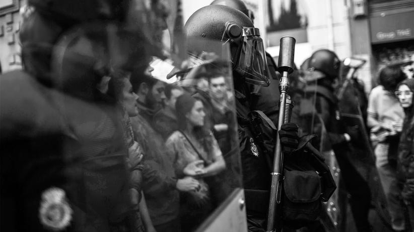 Katalonien: Szenen der Gewalt in Barcelona