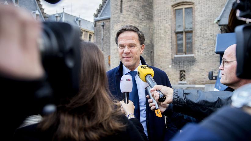 Niederlande: Der bisherige und wohl auch künftige niederländische Premier Mark Rutte am 9. Oktober 2017 in Den Haag