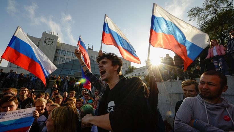 Russland: Festnahmen bei zahlreichen Demonstrationen gegen Putin
