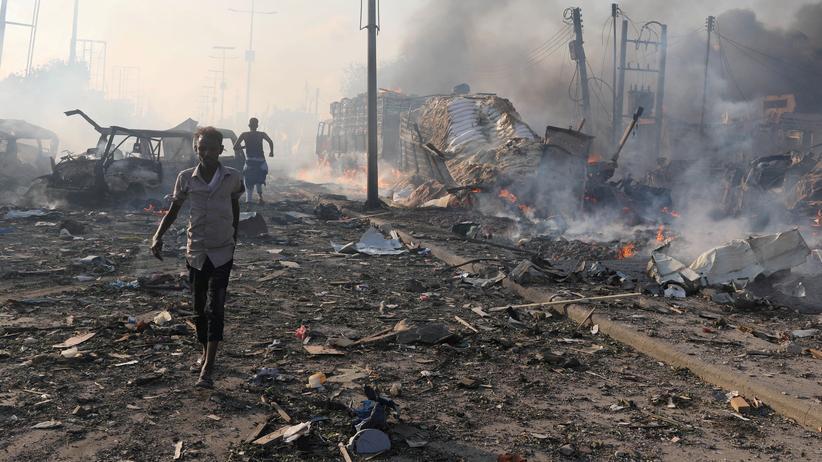 Verwüstungen im Zentrum von Mogadischu.