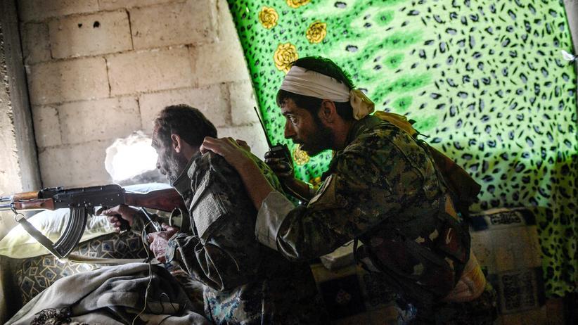 Syrien: Syrische Kämpfer in Rakka (Oktober 2017)