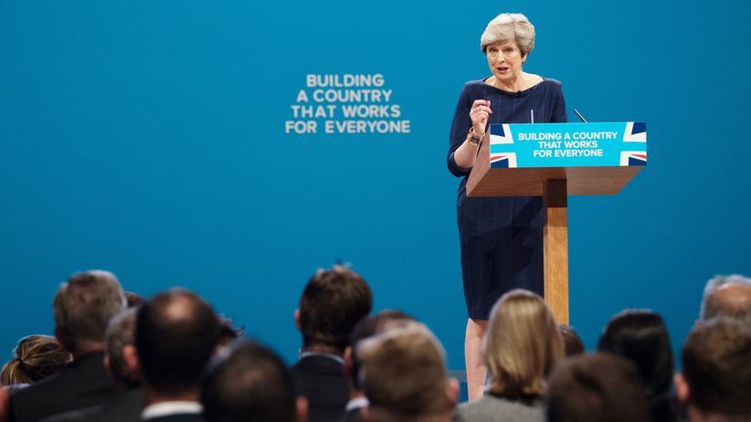 Parteitag der Konservativen: Premierministerin Theresa May während ihrer Rede