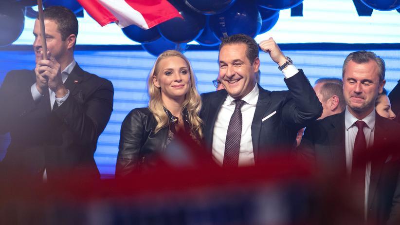 Wahlergebnis in Österreich: Heinz-Christian Strache am Wahlabend. Seine rechtspopulistische FPÖ erzielte mit 27,4 Prozent ihr bislang bestes Ergebnis.