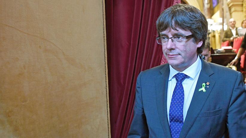 Carles Puigdemont Katalonien Spanien