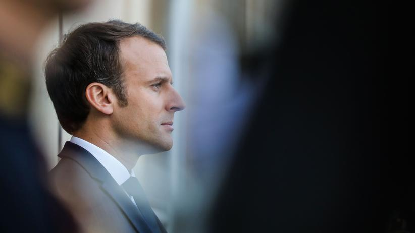 La République en Marche: Frankreichs Präsident Emmanuel Macron bei einem Treffen im Élysée-Palast