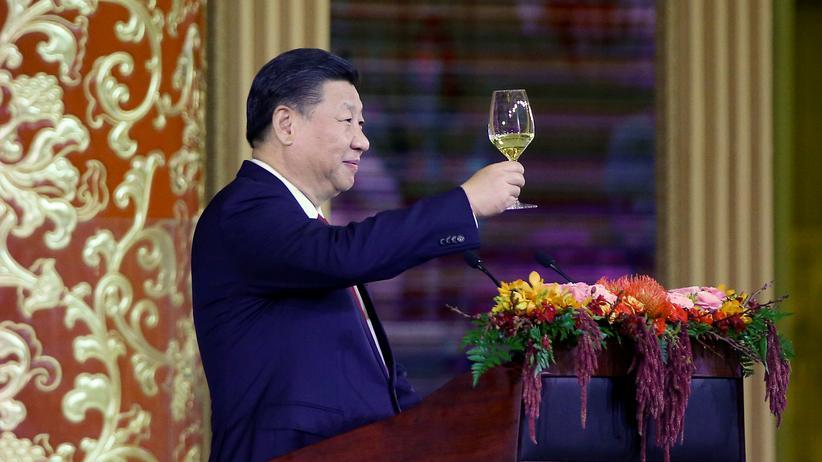 Chinas Staatschef Xi Jinping bei einem Staatsdinner in Peking