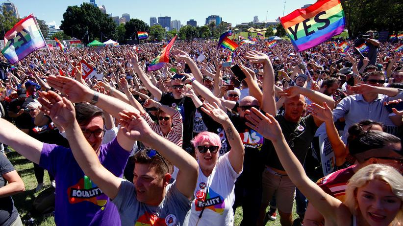 Australien: Mehrheit sagt Ja zur Ehe für alle