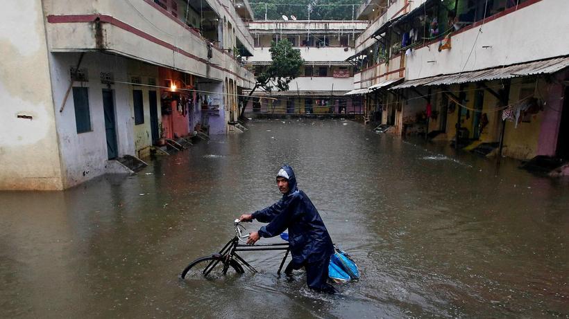 Weltklimakonferenz: Überschwemmungen sind in Indien nicht ungewöhnlich. Im September 2017 traf ein Monsun aber sogar die Finanzmetropole Mumbai.