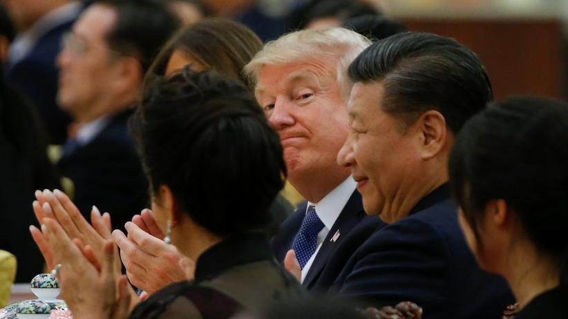 Xi Jinping und Donald Trump: US-Präsident Donald Trump und sein chinesischer Amtskollege Xi Jinping bei einem Essen in Peking.