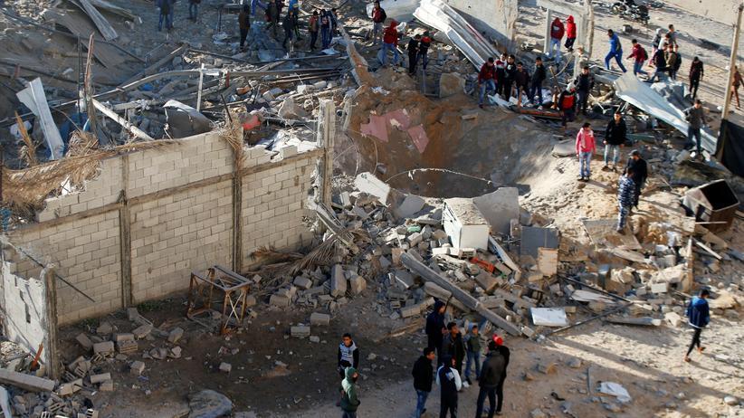 Zerstörte Gebäude im Gazastreifen