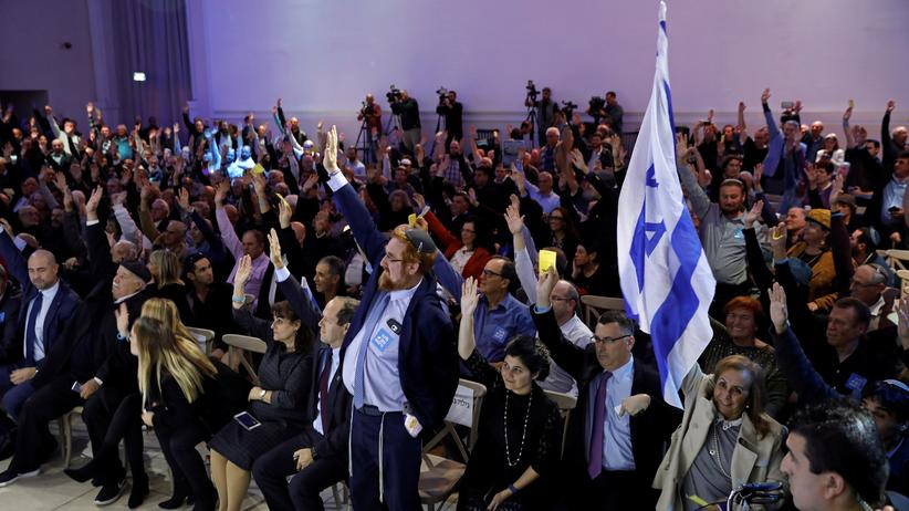 Likud: Das Zentralkomitee von Likud bei der Abstimmung