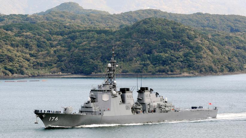 Nordkorea: Der Aegis-Zerstörer Standard Missile-3 (SM-3) auf See.
