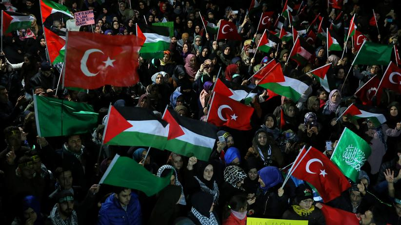 Proteste in Istanbul Jerusalem Entscheidung