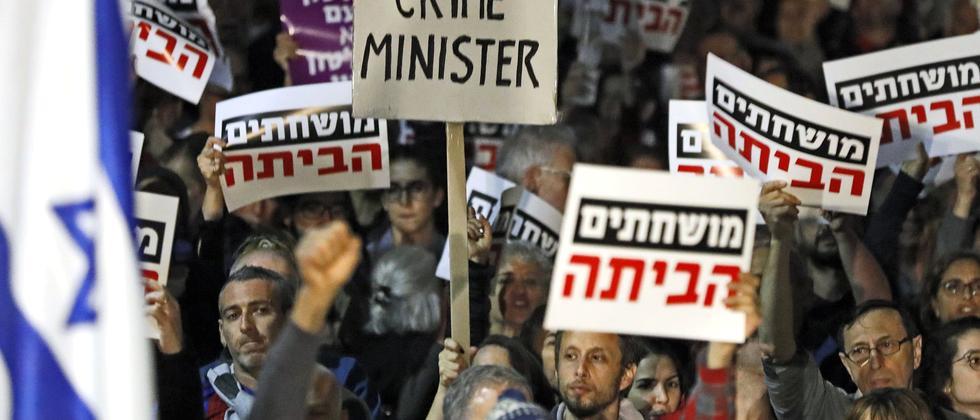 Tel Aviv Demonstrationen Netanjahu