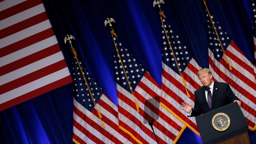 Nationale Sicherheitsstrategie: US-Präsident Donald Trump erläutert in Washington seine Sicherheitsstrategie.