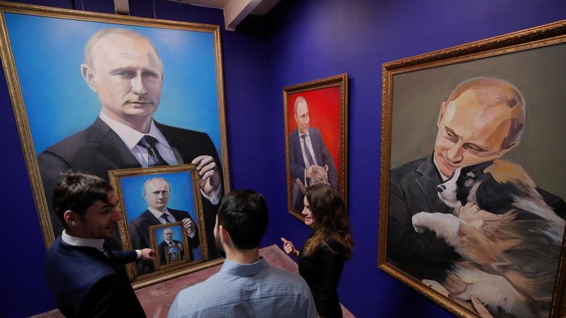 Wladimir Putin: Die Ausstellung Super-Putin ist aktuell in Moskau zu sehen.