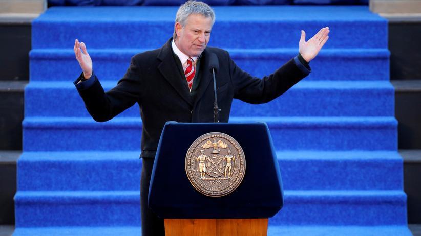 Klimawandel: New Yorks Bürgermeister Bill de Blasio