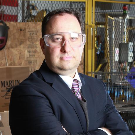 Drew Greenblatt ist der Eigentümer von Marlin Steel in Baltimore im Bundesstaat Maryland