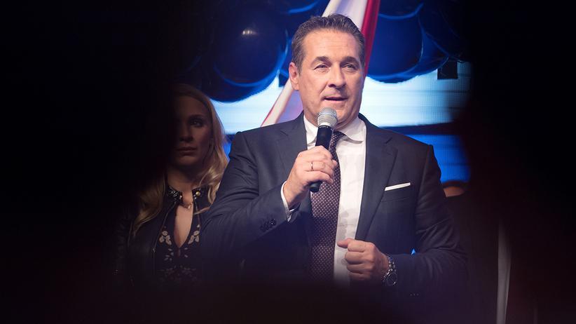 Österreich: FPÖ-Vorsitzender Heinz-Christian Strache in Wien.