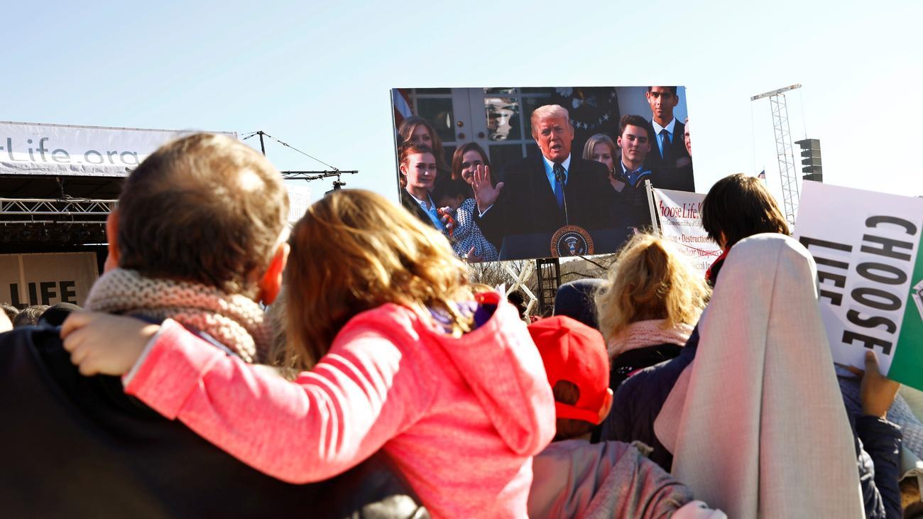 Schwangerschaftsabbruch: Trump richtet per Video Worte an Abtreibungsgegner