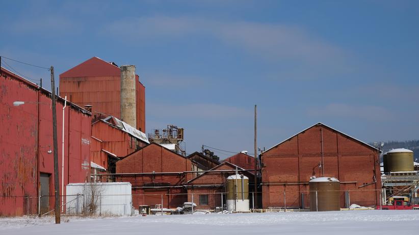 Ohio: Wo nur noch der Rost vorankommt: Das Stahlwerk in Martins Ferry wird heute als Lager genutzt.